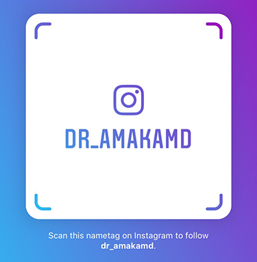 Follow Dr. Amaka on Instagram